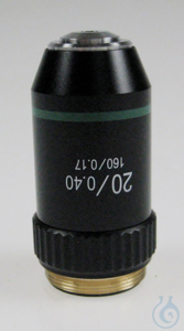 Objective achromatic 20 x / 0,4, spring, anti-fungus Objective achromatic 20...