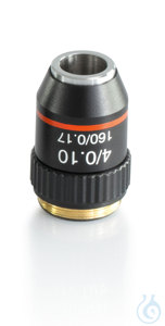Objective achromatic 4 x / 0,1, anti-fungus Objective achromatic 4 x / 0,1...