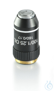 Objektiv achromatisch 100×/1.25 (oil) (sprung) W.D. 0.07 mm E-plan Objektiv...