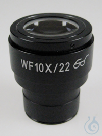 Eyepiece HWF 10 x / Ø 22mm, with reticule 0,1 mm, anti-fungus, high eye point...