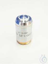Objektiv Achromatisch 100 x / 1,25, Öl, gefedert, Anti-Fungus Objektiv OBB-A3207