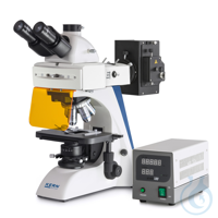 Fluorescence microscope Trinocular, Inf Plan 4/10/20/40/100; WF10x20; 100W HBO ( The fluorescence...