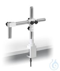 Stereomikroskop-Ständer (Universal), klein; Teleskoparm; mit Klemme Mit...