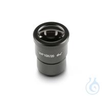 Okular HWF 10 x / Ø 20mm, mit Skala 0,1 mm, Anti-Fungus, High-Eye-Point...
