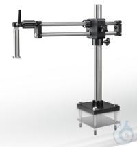 Stereomikroskop-Ständer (Universal), Kugelgelagerter Doppelarm; mit Schrauben...