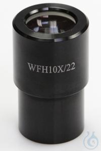 Okular HWF 10x / Ø 22mm. with Skala 0,1 mm, High-Eye-Point Okular HWF 10x / Ø...