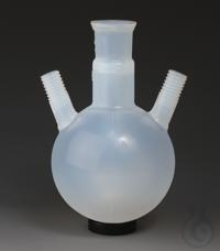 Round Bottom Flasks with Threaded GL Necks PFA Transparent, non-porous, central  Round Bottom...