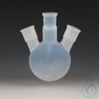 3Panašios prekės Round Bottom Flasks with Three Ground Joint Necks PFA Transparent,...