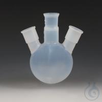 Round Bottom Flasks with Three Ground Joint Necks PFA Transparent, non-porous, c Round Bottom...