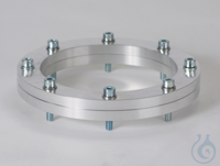 Flat Flange Joining Pieces ALU Made of aluminium, connection between reaction...