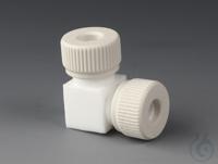 Winkel-Stücke PTFE/PTFE-GF Verbindungsstück in L-Form aus PTFE, zwei Anschlüsse  Winkel-Stücke...