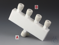 Distributors PTFE/PTFE-GF Body made of PTFE with nuts made of glass-fibre reinfo Distributors...