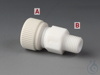 Screw-In Tube Fittings PTFE/PTFE-GF Straight tube fitting made of PTFE with nuts Screw-In Tube...
