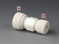 Reducing Unions PTFE/PTFE-GF Straight tube fitting made of PTFE with nuts made o Reducing Unions...