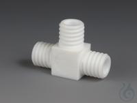 T-Verbindungsstücke-GL PTFE Verbindungsstück in T-Form aus PTFE, drei Anschlüsse...