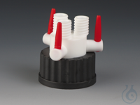 Multiple Distributors with Stopcocks PTFE/PPS Black screw cap made of PPS for bo Multiple...