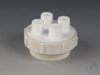 Fass-Mehrfachverteiler PTFE/PTFE-GF Schraubkappe aus PTFE-Glasfaser passend für