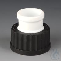 2Artikelen als: Ground Joint GL Adaptors PTFE/PPS Black screw cap made of PPS with GL 45...