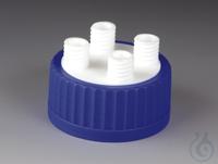 Flaschen-Mehrfachverteiler PTFE/PP Schraubkappe aus PP für Flaschengewinde GLS 8