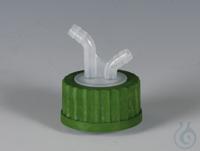 Flex-Verteiler PP Schraubkappe grün aus PP für Flaschengewinde GL 45 und Verteil