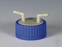Flex-Verteiler PP Schraubkappe blau aus PP für Flaschengewinde GLS 80 und Vertei