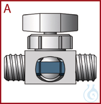 GL Ball Valves PTFE/PPS Two-way valve with straight bore and two connections wit GL Ball Valves...