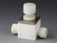 Control Valves PTFE/PTFE-GF Body made of PTFE with 2 connections and nuts made o Control Valves...