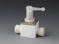 Snap Valves PTFE/PTFE-GF Body made of PTFE with 2 connections and nuts made of g Snap Valves Body...