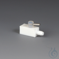 Miniature 2-Way Stopcocks PTFE 2-way stopcock with straight bore and two connect Miniature 2-Way...