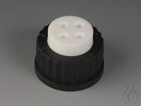 Flaschenaufsatz-Verteiler PTFE/PPS Schraubkappe schwarz aus PPS für Flaschengewi