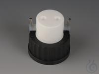 Flaschenaufsatz-Verteiler mit Hähnen PTFE/PPS Schraubkappe schwarz aus PPS für F