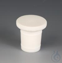 PTFE, NS 34/35, BOUCHONS PTFE, NS 34/35, En plastique fluoré. A rodage normalisé, poignée moletée...