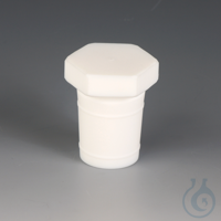 4Artikelen als: Stoppers PTFE Made of PTFE, with ground joint and sealing rings on the...