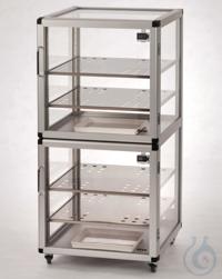 Vitrum Maxi 2-Desiccator Glas/AL Aluminium frame with heat-resistant panels made Vitrum Maxi...