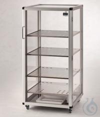 Maxi 1-Desiccator PMMA/AL Aluminium frame with panels made of acrylic glass, inc