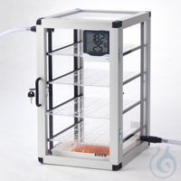 Super-Star-Desiccator PMMA/AL Aluminium frame with panels made of acrylic glass,...