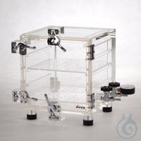 Vakuum-Exsikkator PMMA Massives Acrylglas (Wandstärke 20 mm), Tür mit umlaufende...