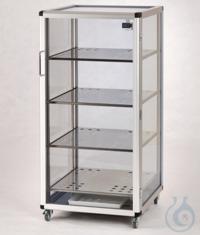 Maxi 1-Desiccator Antistatic PC/AL Aluminium frame with static dissipative...