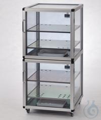 Maxi 2-Desiccator Antistatic PC/AL Aluminium frame with static dissipative...