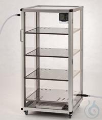 Super-Maxi 1-Desiccator PMMA/AL Aluminium frame with panels made of acrylic...