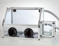 Handschuhbox mit Schleuse Antistatik PC/AL Aluminiumrahmen mit Scheiben aus able Handschuhbox mit...