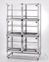 Desiccator Wall Antistatic PC/AL Aluminium frame with static dissipative...