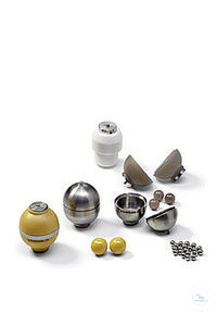 grinding bowl 15 ml cpl. hardened, stainless steel Grinding bowl with lid and seal ring Grinding...