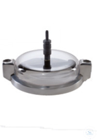 clamping lid plexiglas with 2 rotation nozzles With 2 rotation nozzles for wet sieving with test...