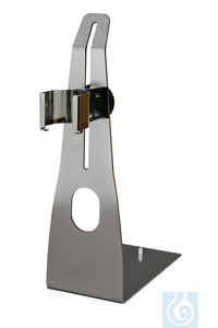ST-P 15/320 Stainless steel plate stand with height-adjustable holder for...