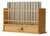 Holzgestellt für 12 Auffangröhrchen mit Schublade für das Werkzeugset...