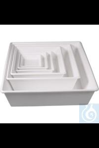 Allzweckschalen/Chemikalien-Auffangwannen-Set 6er AllzweckSchalen und Gläser aus Polyprobplen...
