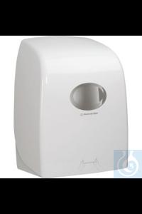 AQUARIUS* SCOTT® MAX Rollenhandtuchspender 25 cm, wahlweise mit Druckknopf oder abschließbar,...