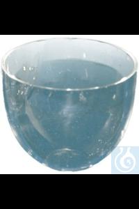 Tiegel aus Quarzglas Tiegel mittelhohe Form aus Quarzglas, 20 ml, DIN 12 904. Deckel mit Ø=44 mm...