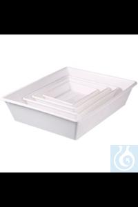 Allzweckschalen/Chemikalien-Auffangwannen-Set 4er AllzweckSchalen und Gläser aus Polyprobplen...